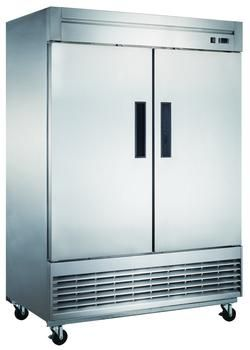 Dukers D55r 40 7 Cu Ft 2 Door Commercial Refrigerator In Stainless Steel Commercial K Commercial Freezer Commercial Restaurant Equipment Commercial Kitchen