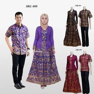 Model Gamis Batik Kombinasi Kain Satin Model Gamis Batik Kombinasi