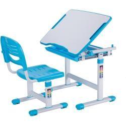 Kinderschreibtisch Comfortline Blau Mit Stuhl Roller In 2020 Kinderschreibtisch Stuhle Fur Kinder Stuhl Hohenverstellbar