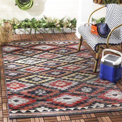 Bungalow Rose Griffeth Southwestern Rust Multi Area Rug In 2020 Area Rugs Rugs Rug Shapes