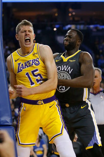 Moritz Wagner Of The Los Angeles Lakers Reacts After Making A Basket Los Angeles Lakers Lakers Wagner