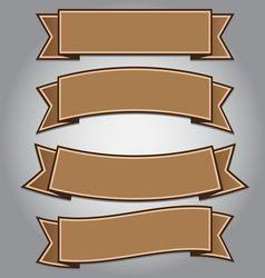 Vintage Brown Ribbon Banner Vector Ribbon Banner Vintage Brown Banner Vector