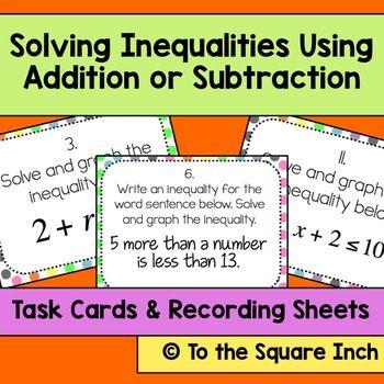 13 Math Inequalities Ideas Teaching Math Middle School Math Math Classroom
