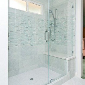Large Walk In Shower Big Enough For Two With A Full Bench Seat
