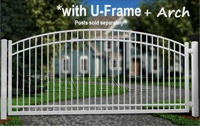 Industrial Single Swing Aluminum Gate S4 Smooth Flat Top Aluminium Gates Single Swing Metal Driveway Gates