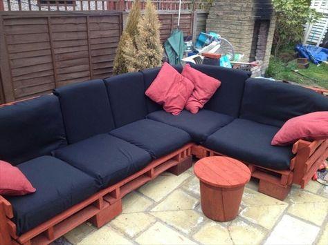 13 Diy Sofas Made From Pallet Salon De Jardin Palettes Canape