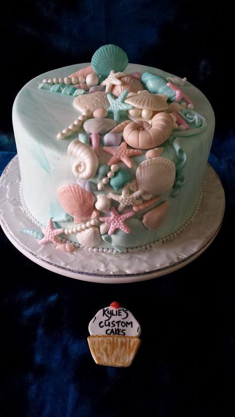 64 Ideas wedding beach cake mermaid parties for 2019