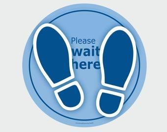 Walk This Way Arrow Social Distancing Floor Decals Yellow Etsy Floor Stickers Floor Decal Retail Signs