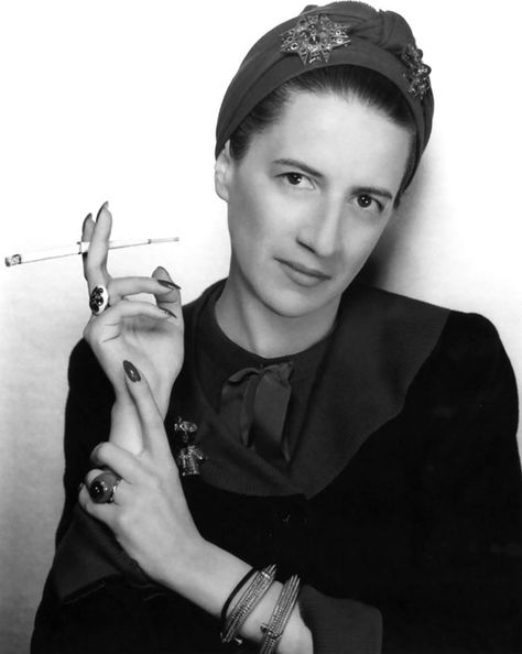 Diana Vreeland - the contemporary fashion legend, who brought her revolutionary approach to Vogue, Harper's Bazaar and New York's Metropolitan Museum of Art. Portrait of Diana Vreeland by George Hoyningen-Huene in the late