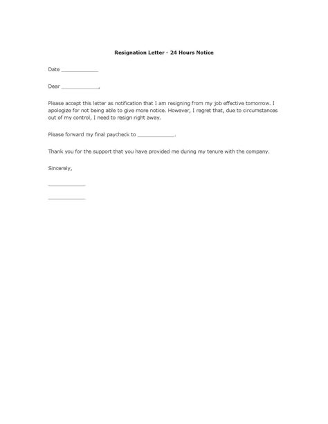 polite resignation letter format resumes and other pertinent docs