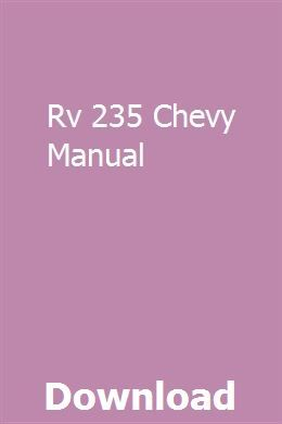 Rv 235 Chevy Manual Gmc Trucks Introduction To Algorithms Manual