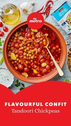 Add international flavour to your favourite comfort foods this winter! Start your cooking journey with @olive_mango's globally-inspired Confit Tandoori Chickpeas! #tandoori #chickpeas #chickpearecipe #confittandoori #internationalflavours #globalfoods #spicyfood #dinneridea #dinnerinspo