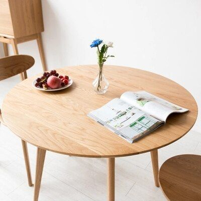 Solid Wood Round Table Modern Minimalist Small Table Dining Table