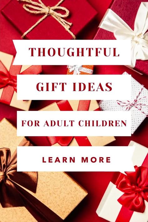Christmas gift ideas for adult/grown sons and daughters! #christmas #christmasgifts #christmasideas #giftideasforgrownchildren