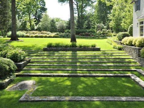 Greenwich Ct Estate Moderne Landschaftsgestaltung Garten Landschaft