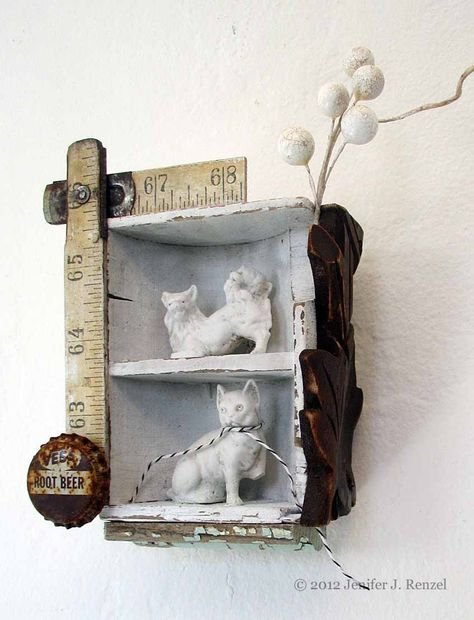 Dog Cat marked  by *bugatha1  Traditional Art / Assemblage