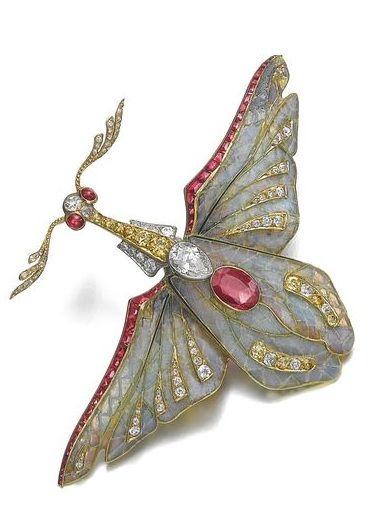 Truly Venusian Edwardian Downton Abbey Jewelry 925 Sterling Silver Marcasite Art Nouveau plique-a-jour Enamel Cottingley Fairy Brooch