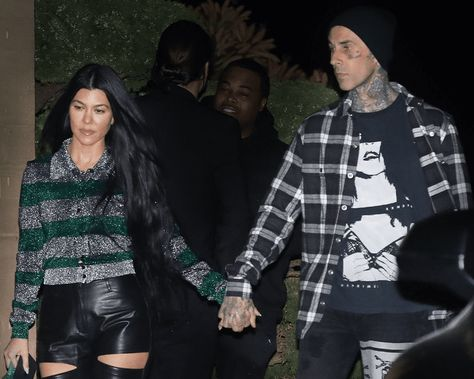 Travis Barker has some new ink, and it's, pretty obvious it's a tribute to girlfriend Kourtney Kardashian. The Blink-182 drummer was spotted shirtless and eagle-eyed fans noticed a new addition to his already very inked chest.