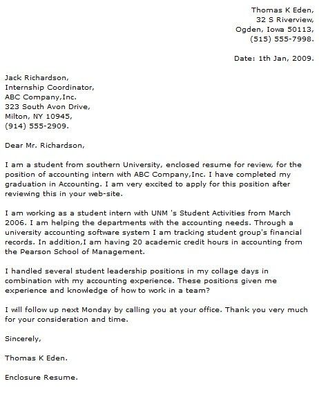accounting job cover letter examples human resources internship - accounting intern job description