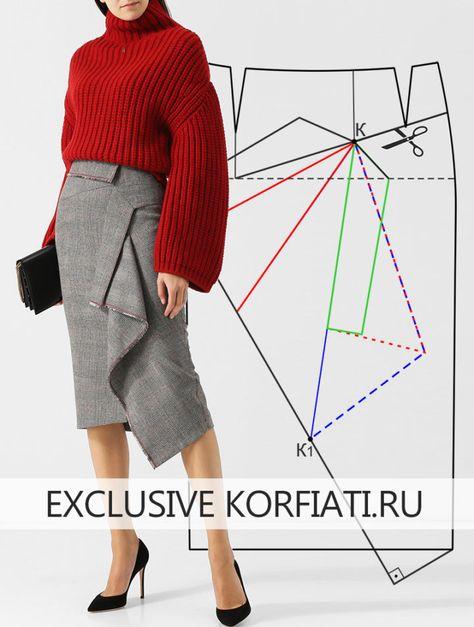 21b1f6be54c Выкройка теплой юбки на подкладке от Анастасии Корфиати ...