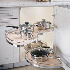Kessebohmer Lemans Ii Arena 50 Blind Corner Set Lh Chrome Maple 541 32 151 Hafele Kitchen Accessories L Shaped Kitchen
