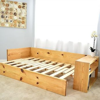 A Sofa That Turns Into A Bed Pdf Plan Diy Creators In 2020 Diy Sofa Bed Diy Sofa Diy Couch
