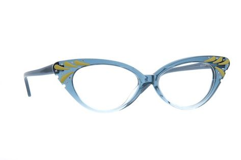 cf7921ec9d6 Blue Cat-Eye Glasses  187616