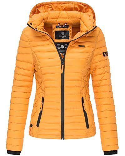 Marikoo Samtpfote Damen Jacke Steppjacke Übergangsjacke Kapuze gesteppt XS-XXL