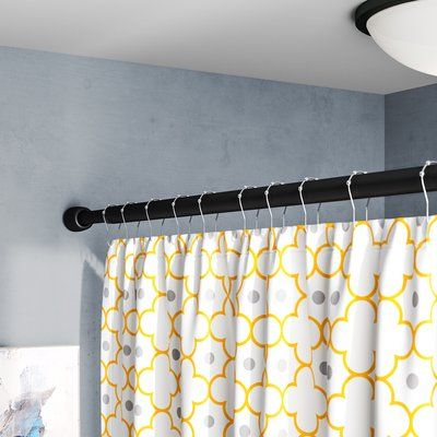 Symple Stuff Larosa 87 Adjustable Straight Tension Shower Curtain