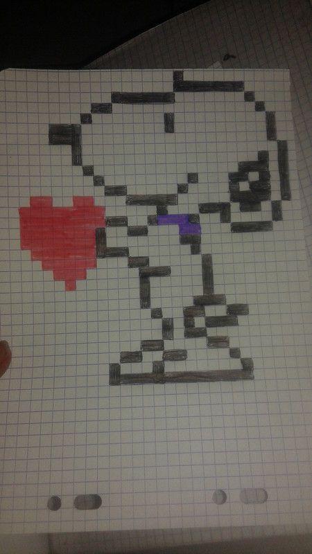 Snoopy Dibujos En Cuadricula Dibujos Pixelados Y Dibujos