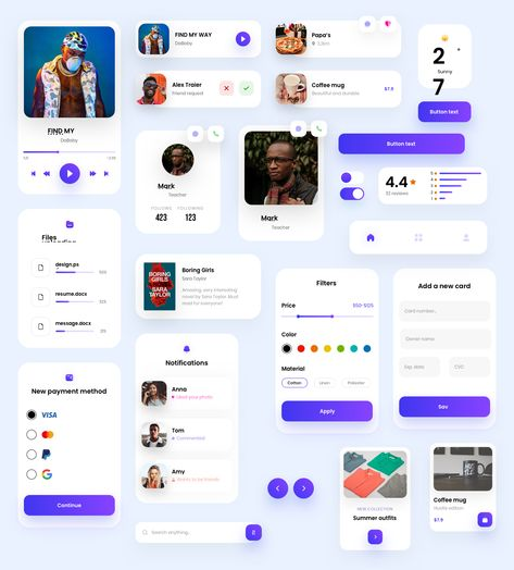 Components Free UI Kit - uistore.design