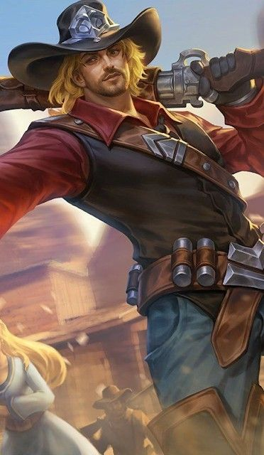 Clint Wallpaper Mobile Legends Rock And Roll Gambar Gambar Digital