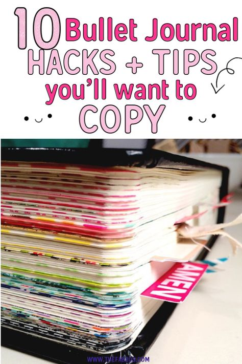 These bullet journal ideas are THE BEST! I'm so happy I found these GREAT bullet journal tips! Now I have some great bullet journal hacks that I can use! organization tips 10 Bullet Journal Hacks You'll Want To Steal - Bullet Journal Inspo, Bullet Journal Wishlist, Minimalist Bullet Journal, How To Bullet Journal, Bullet Journal Spread, Bullet Journal Project Planning, Bullet Journal Prompts, Bullet Journal Inspiration Creative, Best Bullet Journal Notebooks