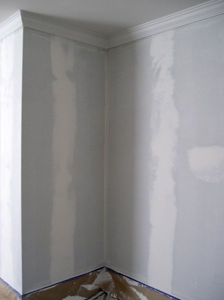 Example Of Walls Patched And Ready To Paint After Removing