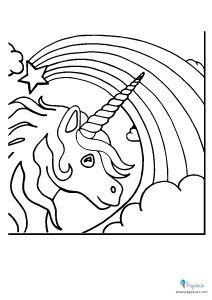 Dibujos Para Pintar Y Colorear Faciles Mas De 100 Pequeocio Dibujos De Unicornios Unicornio Colorear Unicornios Para Pintar