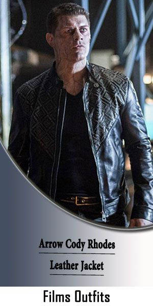 Arrow S7 Cody Rhodes Black Studded Jacket | Jackets, Studded