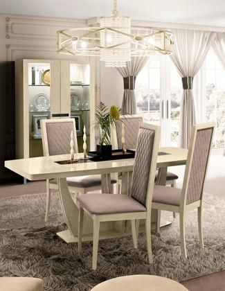 AMBRATABLE4SCCC 6-Piece Dining Room Set with Dining Table 4 ...