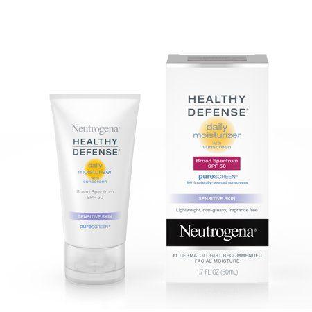 Neutrogena Healthy Defense Facial Sunscreen Zinc Oxide Sun Protection Spf 50 1 7 Fl Oz Walmart Com Fragrance Free Moisturizer Retinol Moisturizer Sunscreen Moisturizer