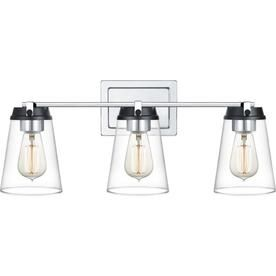 new concept bd812 24321 Quoizel Collier 3-Light 9 Chrome And Black Cone Vanity Light ...