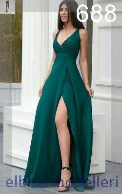 Gece Elbiseleri Almanya In 2020 Green Prom Dress Ball Dresses Gala Dresses
