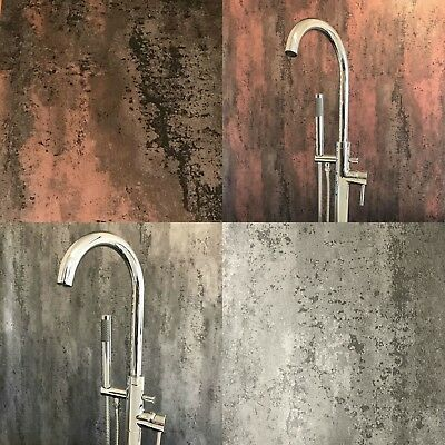 Brushed Silver Grey Or Copper Red Bathroom Wall Panels Pvc Cladding Shower Wet Bathroom Wall Panels Bathroom Red Pvc Bathroom Cladding