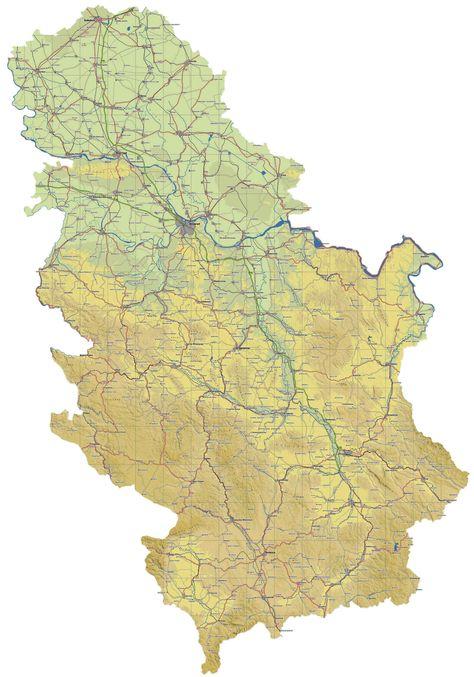 Rezultat Slika Za Digitalna Mapa Srbije