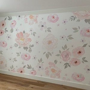 Curious Fish Large Scale Black Peel N Stick Or Etsy Floral Wallpaper Mural Wallpaper Removable Wallpaper