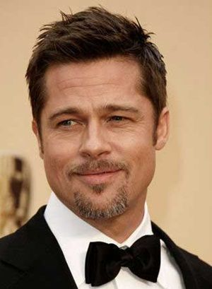 Brad Pitt Blonde Hair Grey Shirt Black Blazer Wavy Hair Men Long Hair Styles Men Mens Hairstyles Long Hair Styles