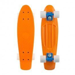 "Skateboard Penny 22"" Orange Blue White"