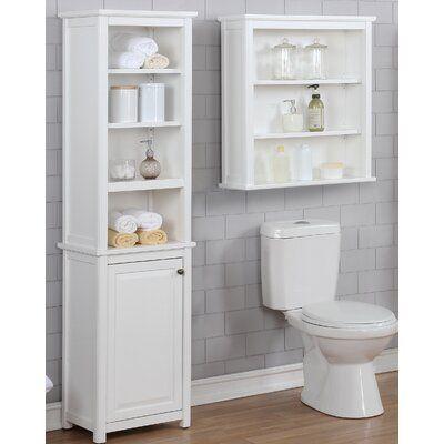 Highland Dunes Carruthers 17 W X 65 H Cabinet Wayfair In 2020 Bathroom Storage Tower Bathroom Shelves Bath Storage