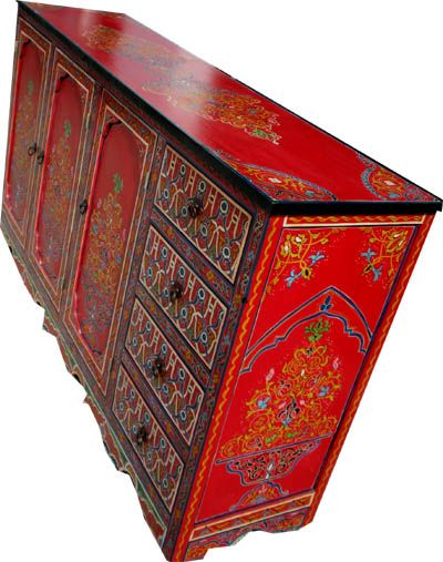 Painted Buffet From Morocco (Just Morocco) | Architecture  Furniture |  Pinterest | Red Buffet, Painted Buffet And Buffet