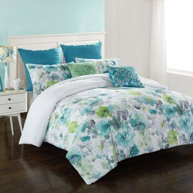 c5f368fc7aacc7816c02adba5c67c823 - Better Homes And Gardens Teal Flowers 5 Piece Set