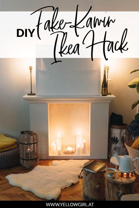 DIY Fake Kamin aus Regalen - IKEA Hack • yellowgirl der DIY-Lifestyle Blog