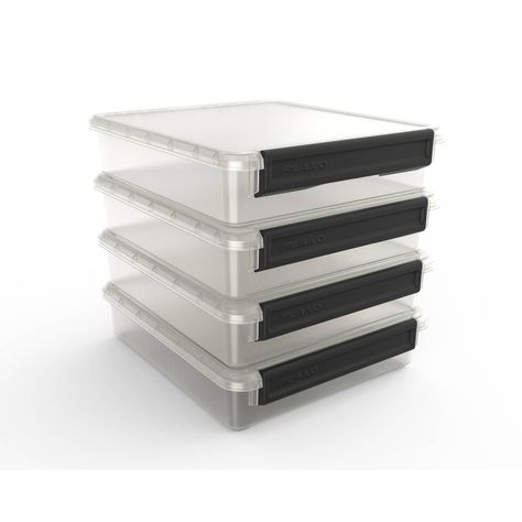 Plano Cubby Cube Storage Organizer 4 Stackable Fits 12 13 Cubed Furniture Black Handle Cube Storage Cube Furniture Cubbies